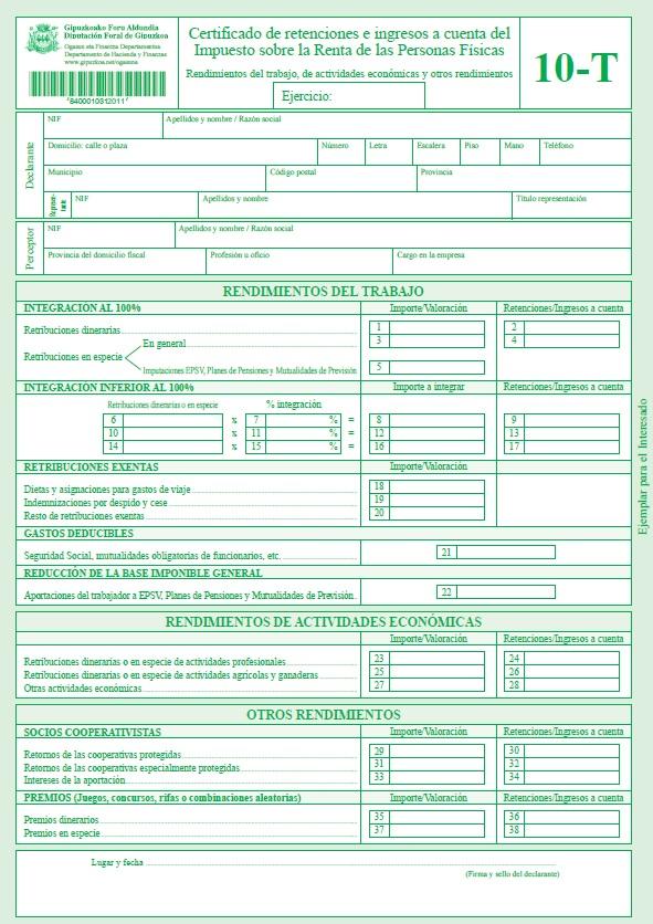 Certificado De Ingresos Y Retenciones Ao 2015 Formato 220 ...